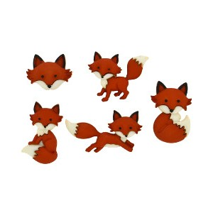 Boutons Out Foxed renards