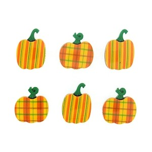 Bouton Plaid Pumpkins Autumn