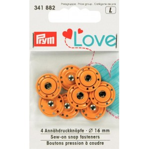 Love pression à coudre orange 16mm PRYM 341882