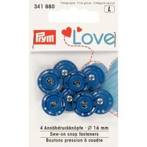 LOVE BOUTONS PRESSION A COUDRE bleu PRYM 341880