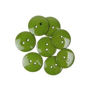 Boutons 22mm Olive - 9pc