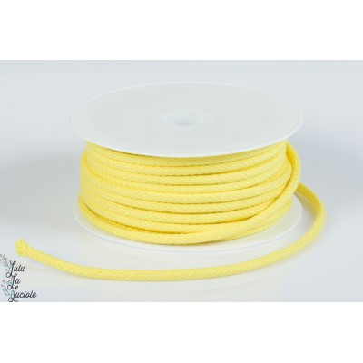 Cordon coton 5.5mm jaune vif