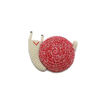 Mètre enrouleur escargot rose crochet