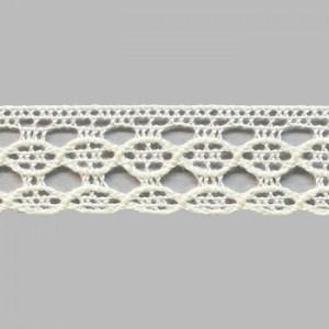 Dentelle coton blance 1.2cm