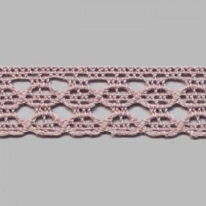 Dentelle  rose coton 1.2cm