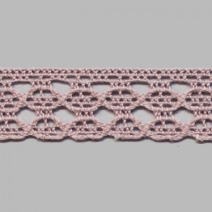 Dentelle coton rose 12mm