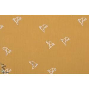 Batiste Bye Bye Birdie Atelier Brunette moutarde oiseau,origami,batiste, jaune,mode femme,