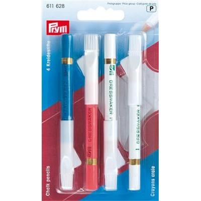 Crayons craie avec brosse à effacer