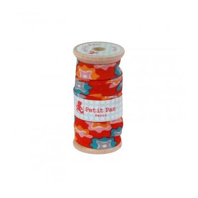Bobine 2.5m Biais Petit Pan Maija Rouge