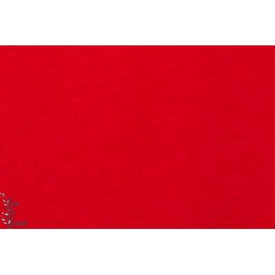 jacquard bio uni rouge Lillestoff dunkelrot
