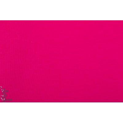 jacquard bio uni Pink Lillestoff rose été