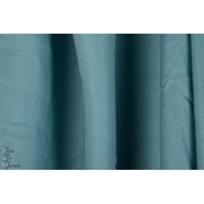 Tissu crêpe Storm Atelier Brunette bleu vert
