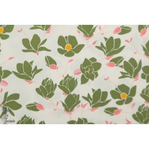 Popeline AGF  Magnolia Printemps