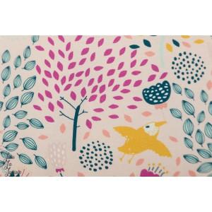 Jersey Digital Lentoretki Rose Verson Puoti - vue du ciel -prairie oiseau doux rose