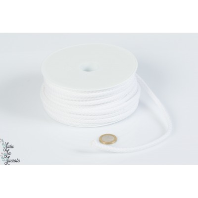 Cordon coton 5.5mm Blanc
