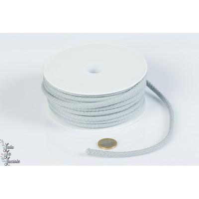 Cordon coton 5.5mm Gris Clair