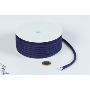 Cordon coton 5.5mm Marine
