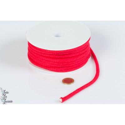 Cordon coton 5.5mm Rouge