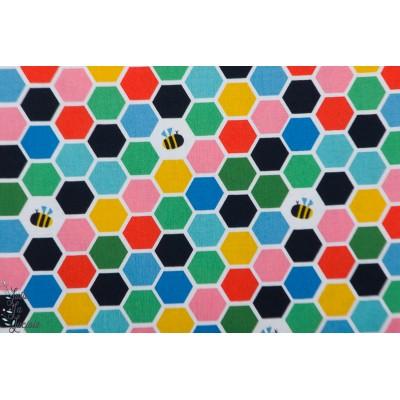 Popeline Dashwood EDEN POP EPOP1330miel abeille ruche couleur graphique été