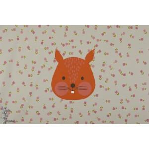 panneau jersey Bio Hörnchen Ecureuil lillemo enfant lillestoff animaux