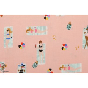 Popeline Sun Girls Coral - Cotton Steel - Amalfi