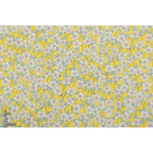 Liberty of London FFIon jaune fleur batiste coton
