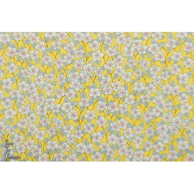 Liberty of London FFIon jaune fleur batiste coton