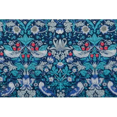 Liberty of London Strawberry M bleu tana lawn batiste oiseau