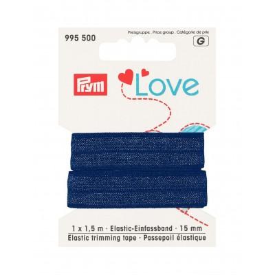 Prym love passepoil élastique 15mm bleu 995500