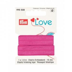 Prym love passepoil élastique 15mm rose 995 508