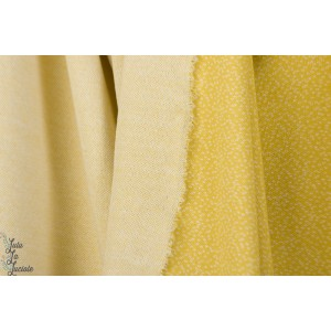 Jacquard Dotties bamboo/White LilleSTOFF poiis jaune blanc