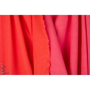 jacquard Dotties Pink orange Lillestoff bio pois rose orange