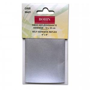 Pièce refléchissante adhésive 10 x 20 cm grise BOHIN