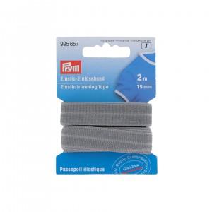 Passepoil élastique 15mm gris 2m PRYM 995657