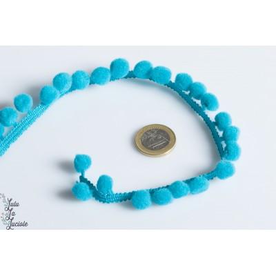 Galon Pompon 18mm Turquoise