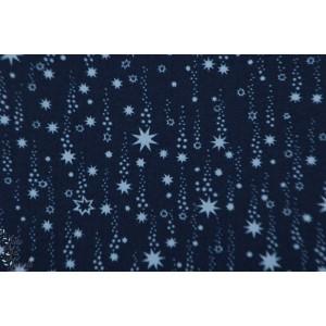 Popeline Dear Stella Star navy - 819 Navy ciel  étoile bleu marine