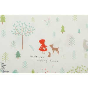 Popeline Dear Stella 975 - little red - petit chaperon rouge
