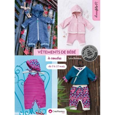 Vêtement de bébé à coudre de 0 à 12 sylvie blondeau layette patron couture bébé