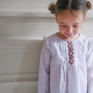 Patron Ikatee HELLEBORE Blouse 3 12 ans fille enfant couture intemporel