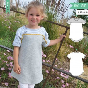 Patron Robe Lana 2 au 6 ans super bison fille couture facile jersey