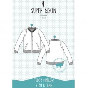Patron teddy Marlow 7/12 ans SUPER-BISON