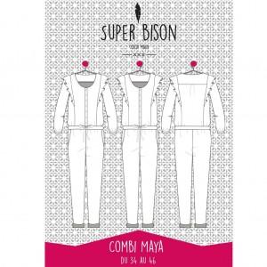 Patron Combinaison Pantalon Femme Maya SUPER -BISON