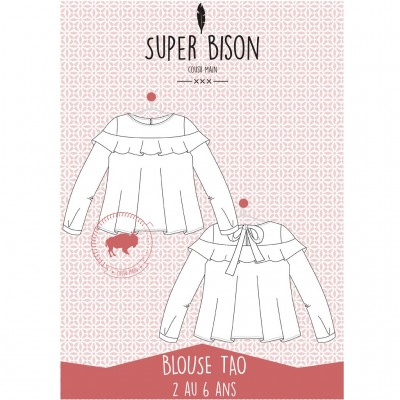 Patron blouse Tao 2/6 ans fille mode couoture enfant super bison