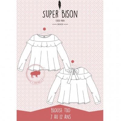 Patron couoture blouse Tao 7/12 ans blouse fille enfant super bison