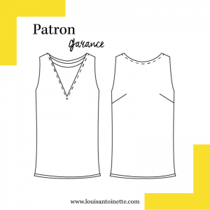 Patron TOP  Garance femme Louis Antoinette, couture mode