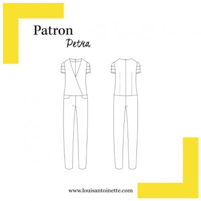 Patron Combinaison PETRA louis antoinette femme mode couture