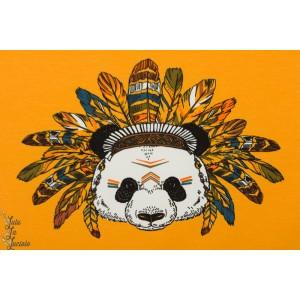 Panneau jersey Stenzo panda indien jaune
