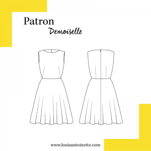 Patron Robe DEMOISELLE couture femme Louis Antoinette Paris France mode