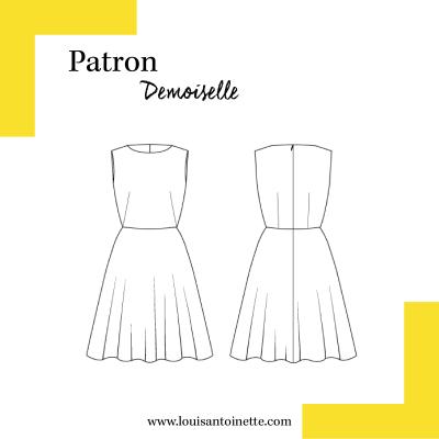 Patron Robe DEMOISELLE couture femme Louis Antoinette Paris France mode