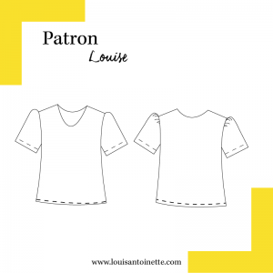 Patron Top Louise Louis Antoinette coouture femme mode france
